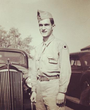 Hef in his Army uniform