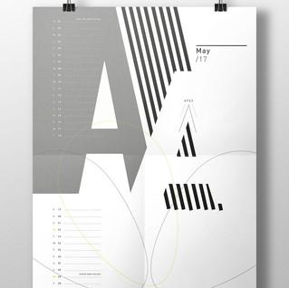 2017 typographic calendar