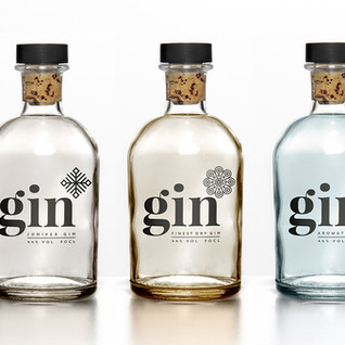 Gin set labels