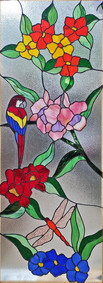 Floral and Dragonfly Panel