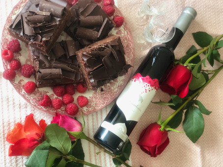 A Love Match - Elephant Island Framboise and The Art of Cake Brownies