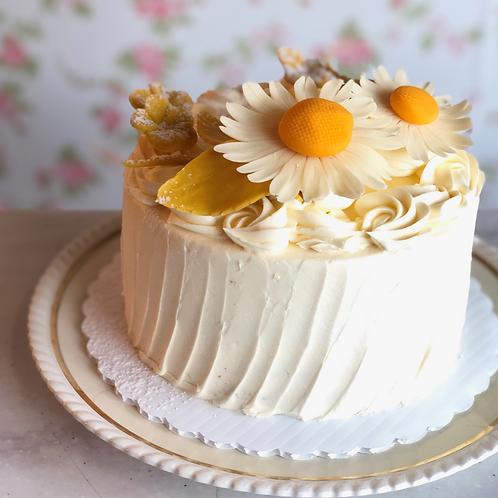 Lemon Curd, Lemon Buttercream & Vanilla Cake