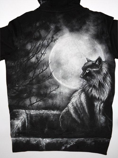 Gato, Luna y pozo