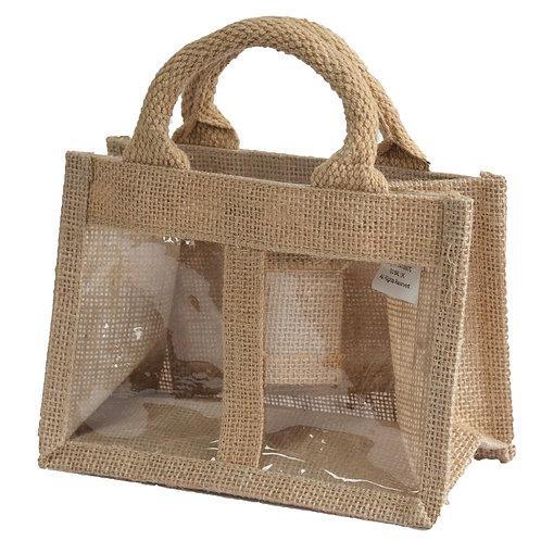 Jute Gift Bag - Double Window