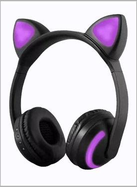 Fone De Ouvido Bluetooth Orelha De Gato