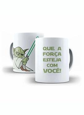 Caneca Porcelana Geek Star Wars Mestre Y