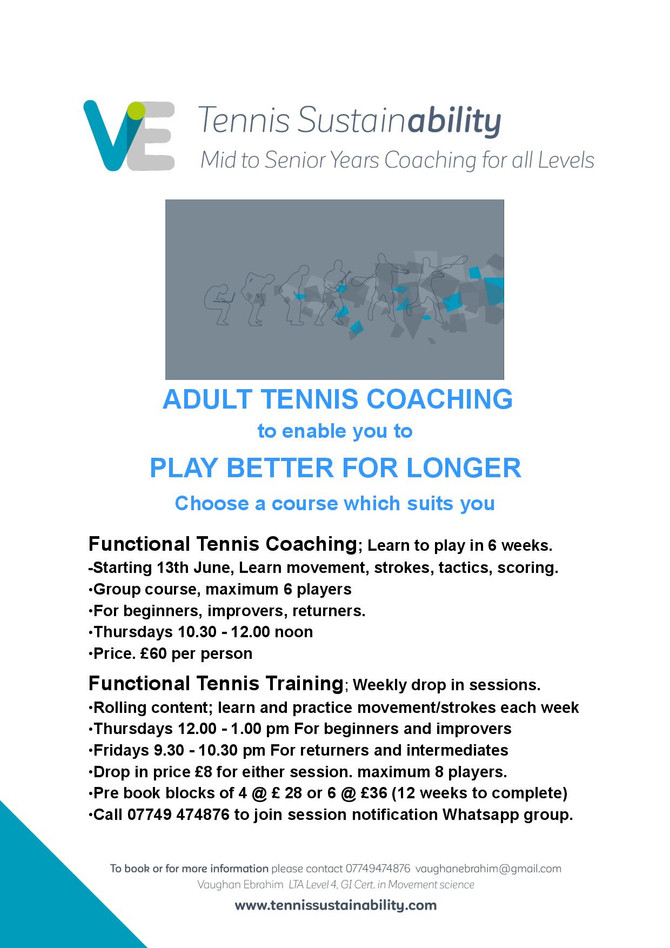 Functional Tennis Coaching