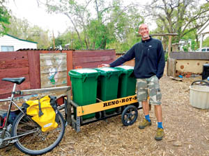 Kyle with bins and trailer