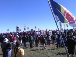 Standing Rock with police