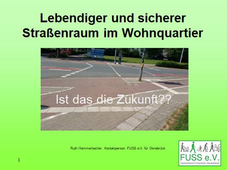 Vortrag: Lebendiger und sicherer Straßenraum in Wüste und Hellern