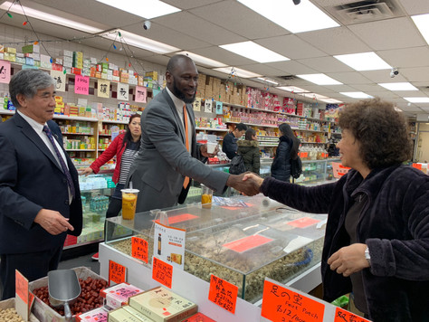 SBS Commissioner's visit to Downtown Flushing