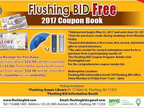 Flushing BID Free 2017 Coupon