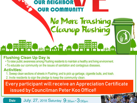 Flushing Clean Up Day!