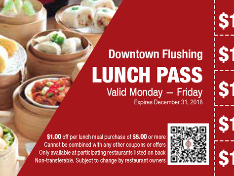 Introducing the Downtown Flushing Lunch Pass!
