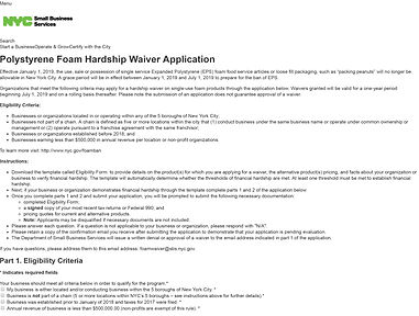 Polystyrene-Foam-Hardship-Waiver-Applica