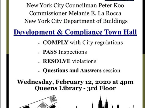 Development & Compliance Town Hall this Wednesday.