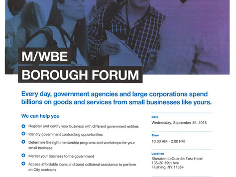 M/WBE Borough Forum