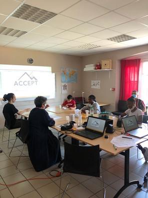 Journée de travail avec les jeunes d'Azimut pour un nouveau projet. juillet 2020