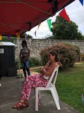 """Participation de Sylvia de la troupe """"Rêve de théatre"""" à notre projet. Juillet 2020"""