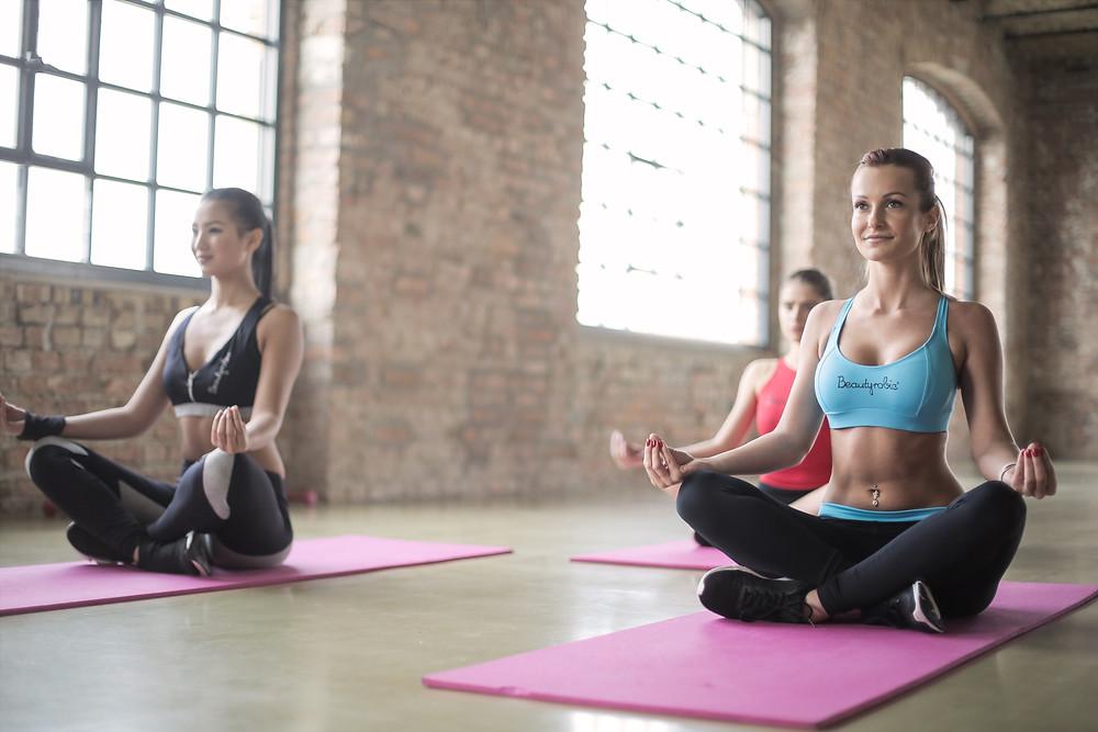 yoga, feel better, beautiful women, meditate