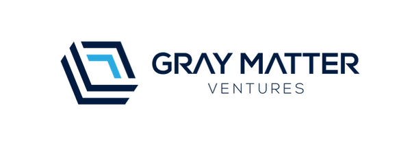 gray matter ventures logo with text and bars