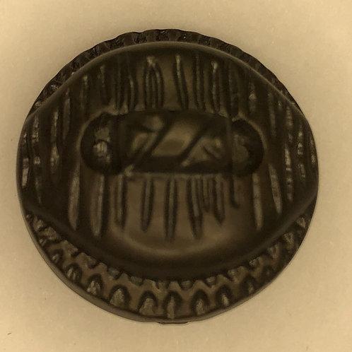 Vintage Button - brown, plastic