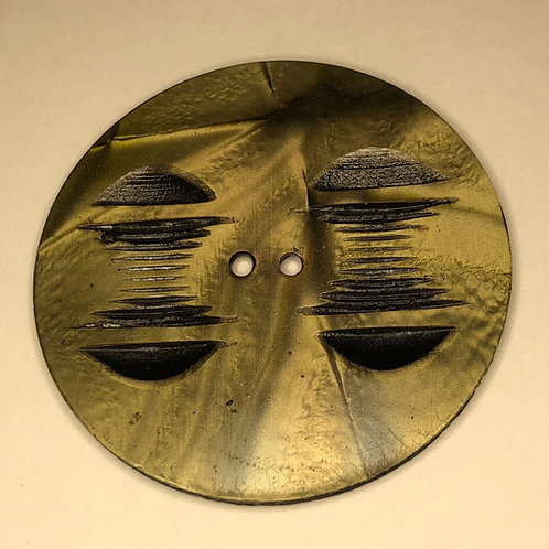 Vintage Button - black/brown, shell