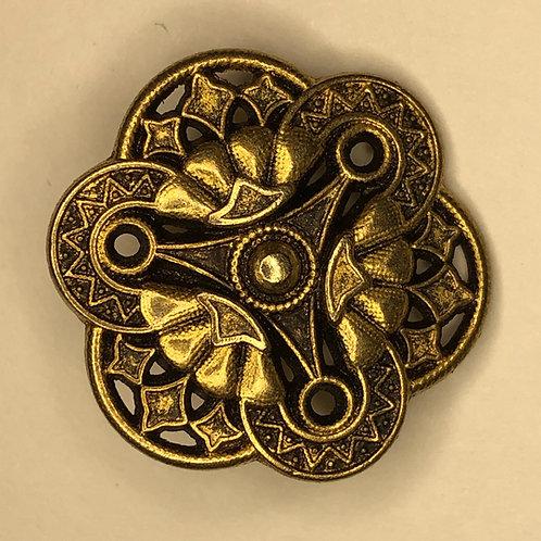 Button - gold, metal