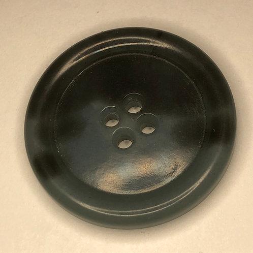 Button - Plastic Tortoise Shell, Blue Grey