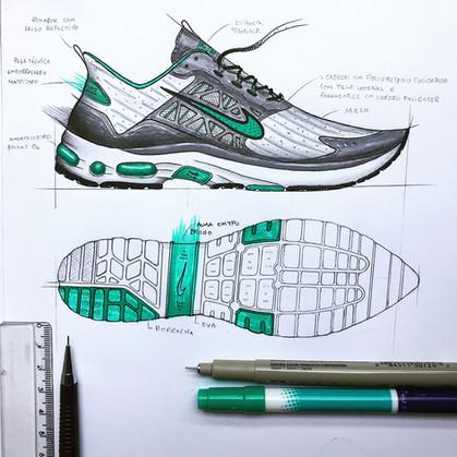 Esboços de calçados