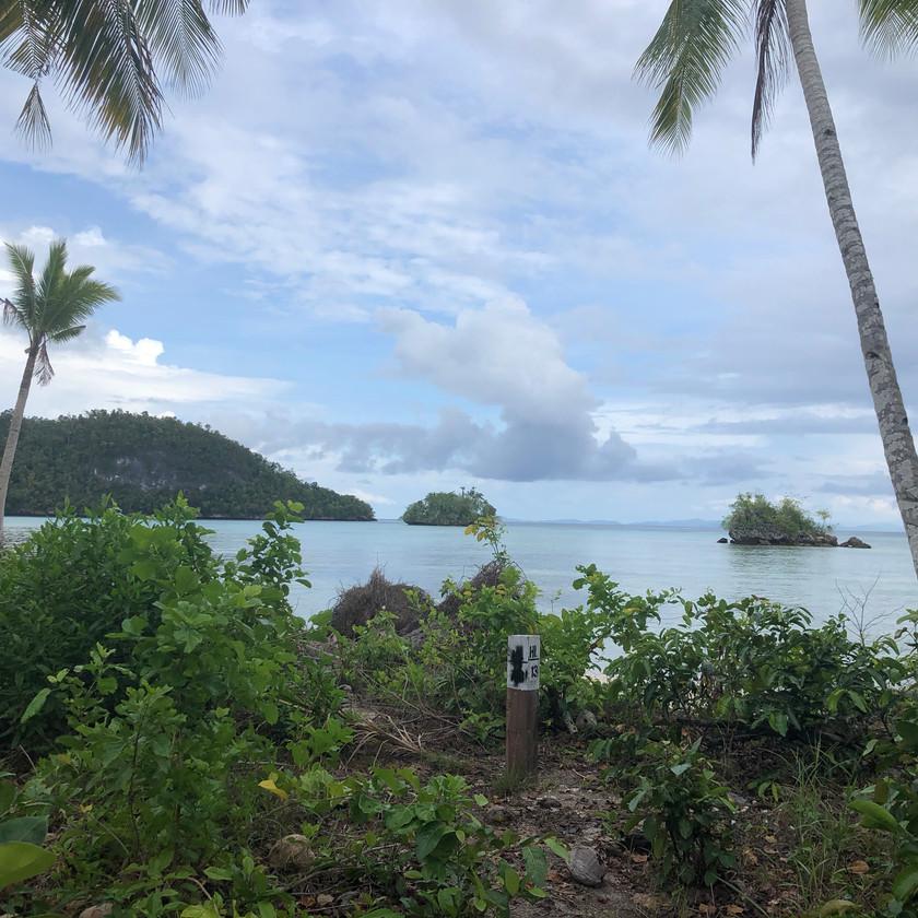 View of islands in Raja Ampat