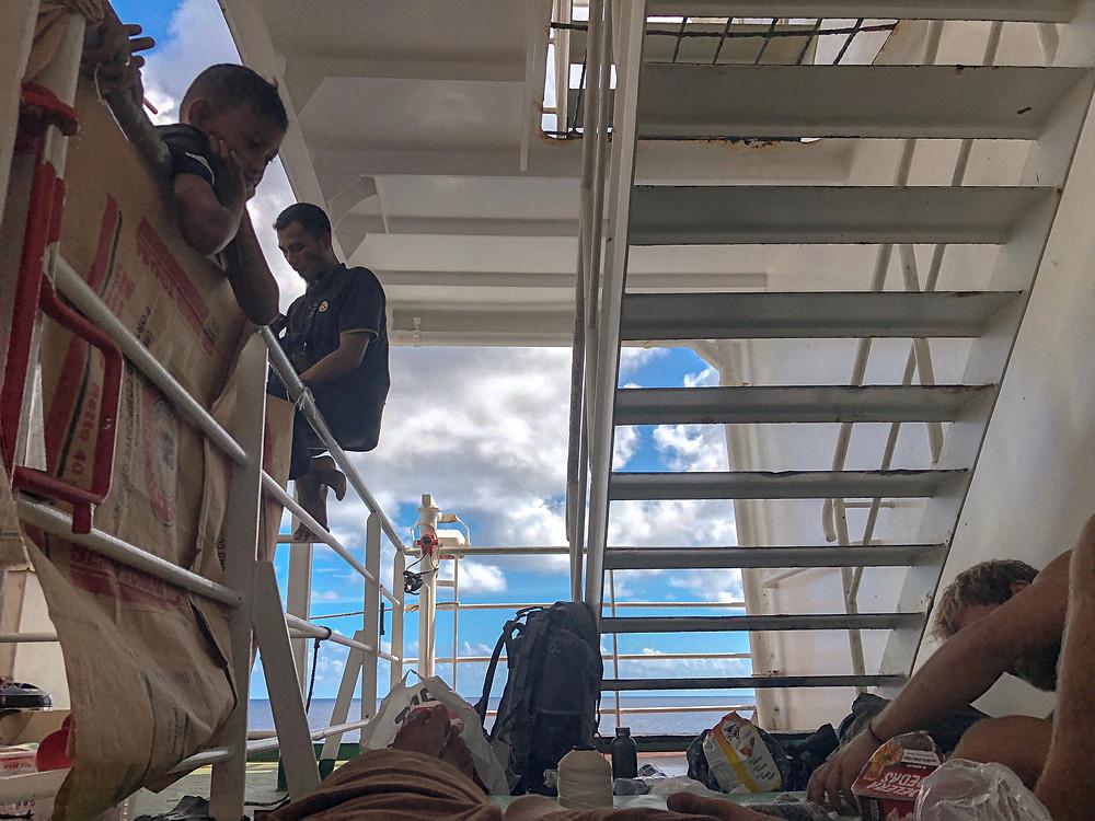Where we slept on the pelni ferry