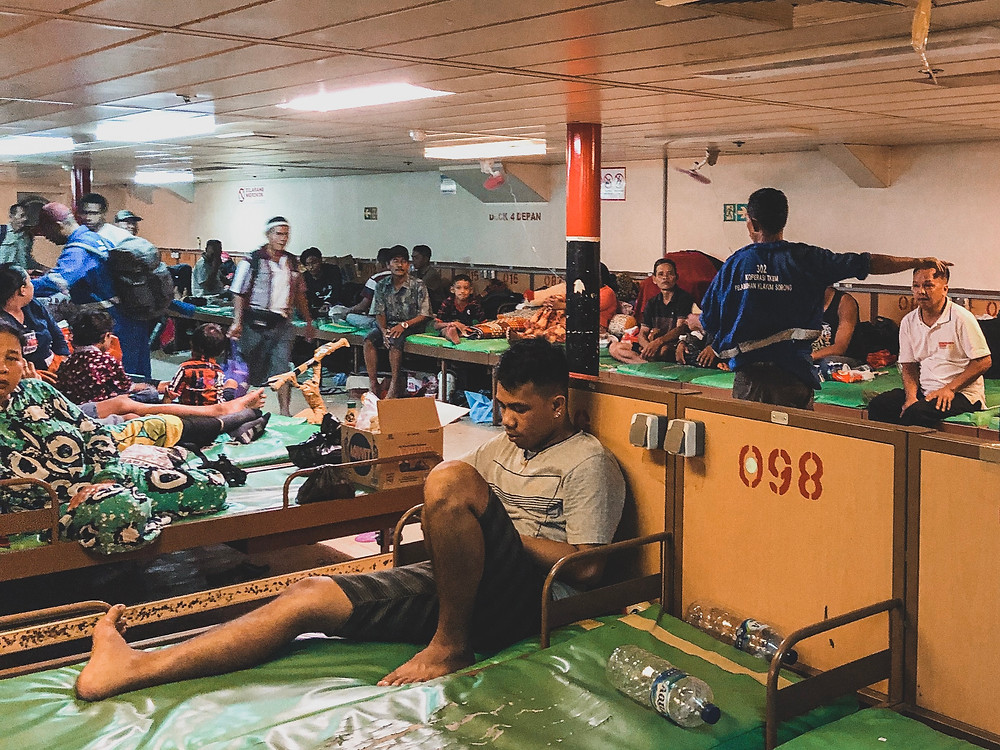 The rooms where you sleep on the pelni ferry