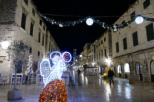 Stradun during Christmas holidays