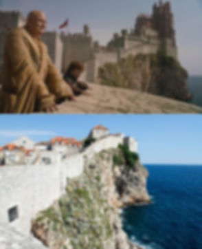 Fort Bokar and Dubrovnik Kings Landing City Walls with a Red Keep