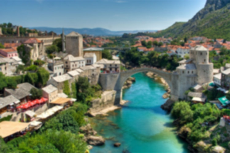 The city of Mostar and Old Bridge