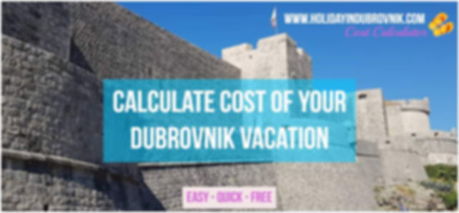 Dubrovnik Vacation Calculator
