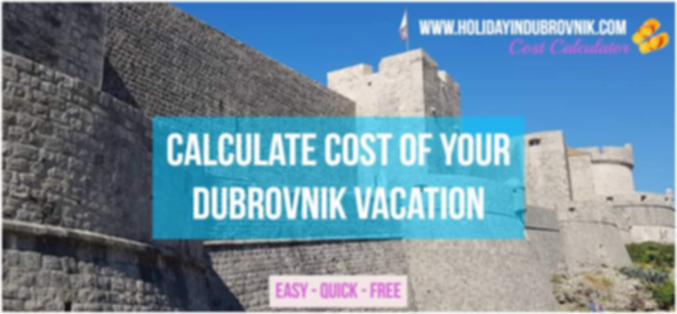 Dubrovnik vacation Calculator