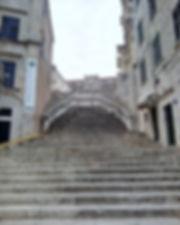 Jesuits walk od shame stairs