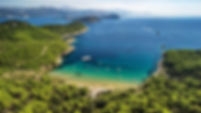 Beach Sunj on island of Lopud near Dubrovnik