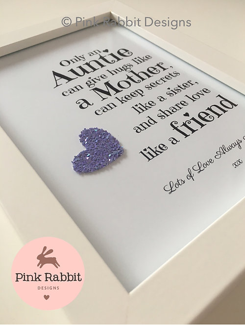 Personalised frames new baby gifts unicorn pictures only an only an aunty auntie negle Image collections