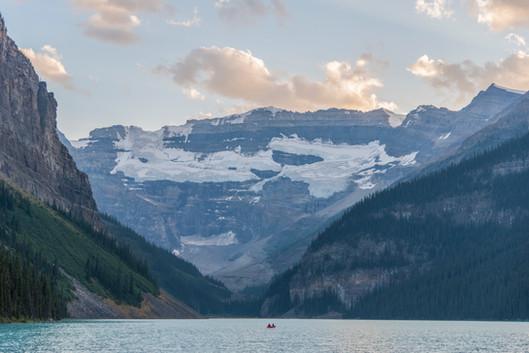 Solitary Canoe, Lake Louise