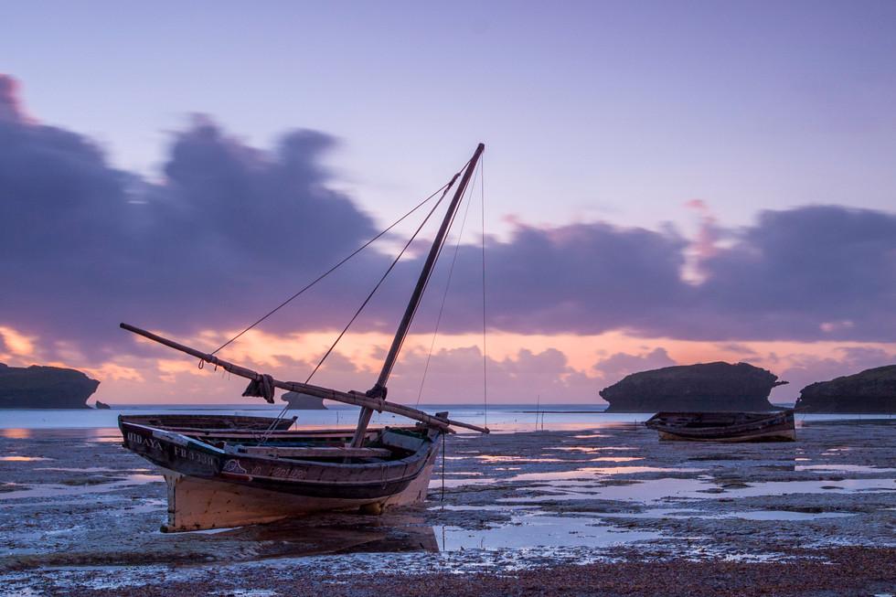 Fishing boat stranded