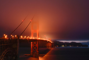 Golden Gate Bridge in the mist