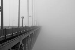 San Francisco Bridge Fog B&W