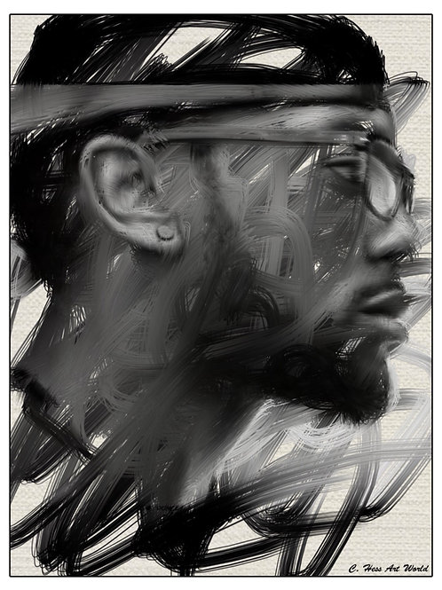 B&W Expressive Portrait