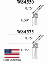 Angled Brush Weatherstrip