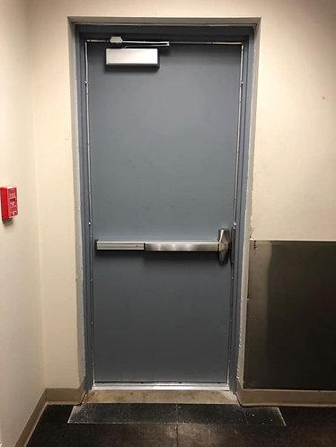 Hollow Metal Door 3070 Reinforced for Rim Panic Device
