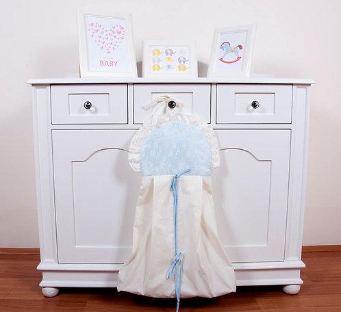 Lady Çamaşır Torbası Mavi-Krem