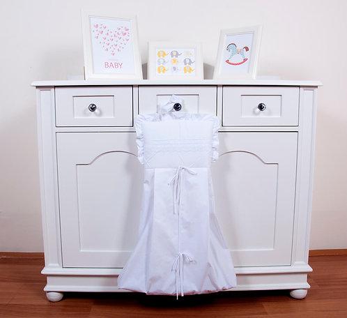 Ebruli Çamaşır Torbası Beyaz